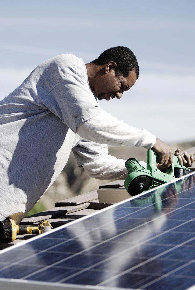 fotovoltaico formação do Centro de Competências Cabo Verde